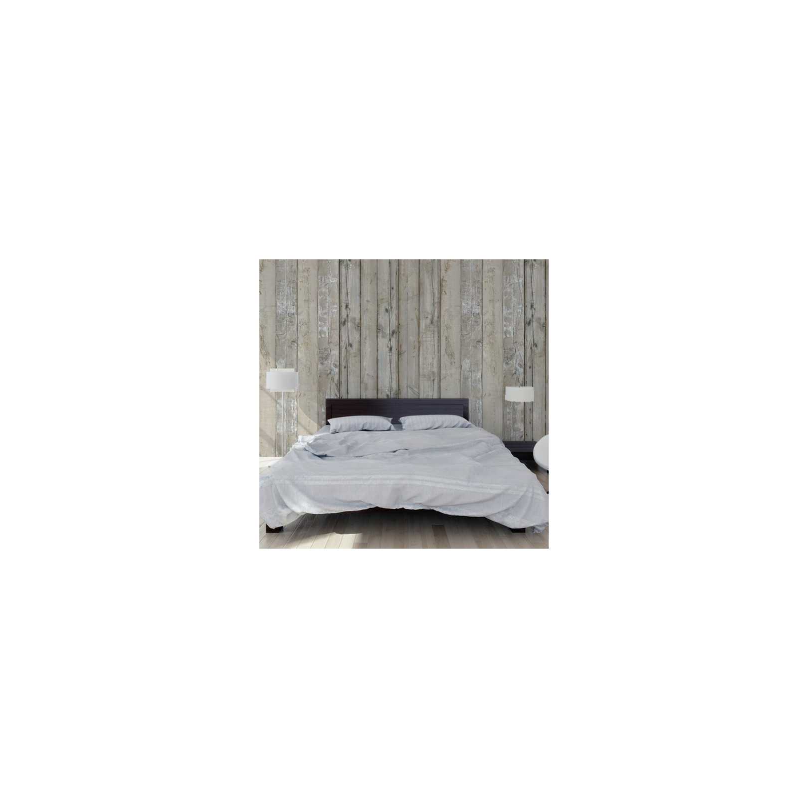 papier peint planches en bois blanc scrapwood. Black Bedroom Furniture Sets. Home Design Ideas