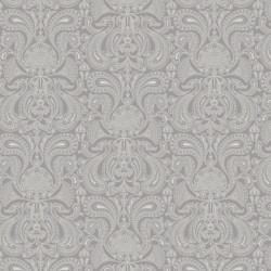 Papier peint - Cole and Son - Malabar - Silver & Grey