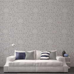 Papier peint - Cole and Son - Malabar - Silver on Lilac Grey