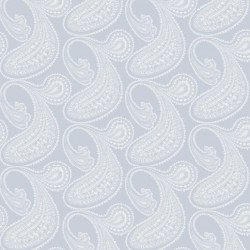 Papier peint - Cole and Son - Rajapur - White & Light Blue
