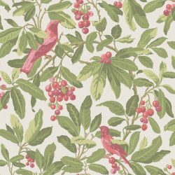 Papier peint - Cole and Son - Royal Garden - Olive & Pink