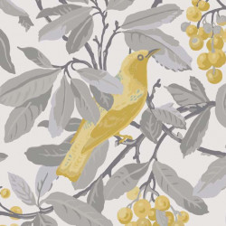 Papier peint - Cole and Son - Royal Garden - Grey & Yellow