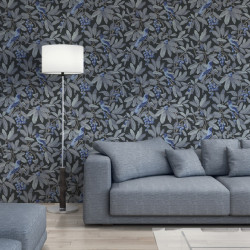 Papier peint - Cole and Son - Royal Garden - Midnight & Blue