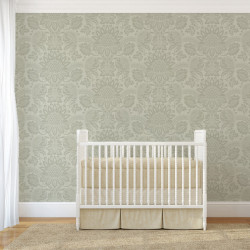 Papier peint - Cole and Son - Dukes Damask - Old Olive