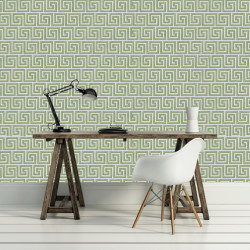 Papier peint - Cole and Son - Queens Key - Green