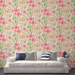 Papier peint - Cole and Son - Exoticks - Green & Pink