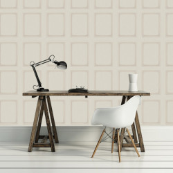 Papier peint - Cole and Son - Library Panel - Cream