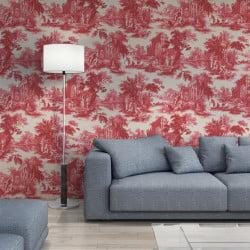 Papier peint - Cole and Son - Villandry - Red