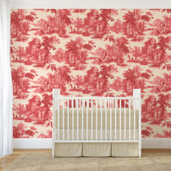 Papier peint - Cole and Son - Villandry - Red
