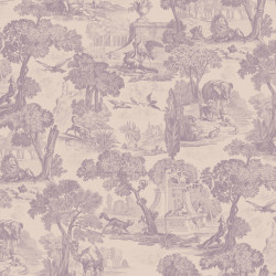 Papier peint - Cole and Son - Versailles - Mulberry