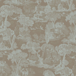 Papier peint - Cole and Son - Versailles - Teal