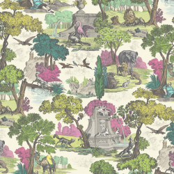 Papier peint - Cole and Son - Versailles Grand - Bright Classic Multi