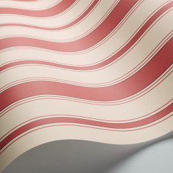 Papier peint - Cole and Son - Cambridge Stripe - Red & Sand