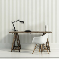 Papier peint - Cole and Son - Glastonbury Stripe - Stone & White