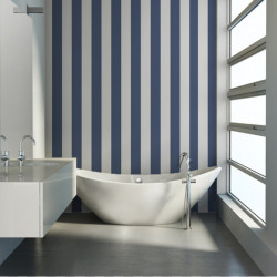 Papier peint - Cole and Son - Glastonbury Stripe - French Blue & White