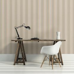 Papier peint - Cole and Son - Pembrey Stripe - Linen & Gold