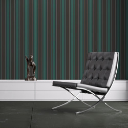 Papier peint - Cole and Son - Cheltenham Stripe - Black & Teal