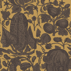 Papier peint - Cole and Son - Cowcumber - Gold and Brown