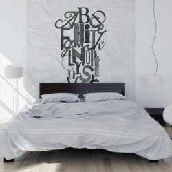 Décor mural - Rebel Walls - Ink Letters Paperblack - Black & White