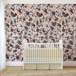 Papier peint - Osborne & Little - Bird song - Multi/Stone