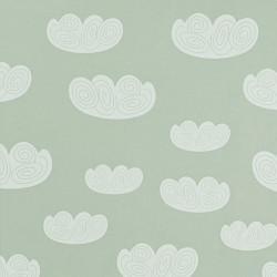 Papier peint - Ferm Living - Cloud - Mint/White