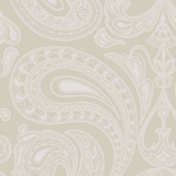 Papier peint - Cole and Son - Malabar - Silver on Soft Olive