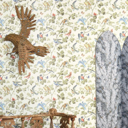 Papier peint - Cole and Son - Winter Birds - Multi-colour