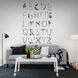 Décor mural - Rebel Walls - ABC for the spelling bee - Black