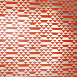 Papier peint - Erica Wakerly - Teepee - Orange / Silver