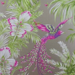 Papier peint - Matthew Williamson - Bird of Paradise - Fuchsia