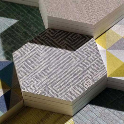 Papier peint - Osborne & Little - Labyrinth - Stone/Soft black