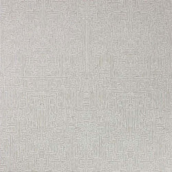 Papier peint - Osborne & Little - Labyrinth - Stone/Metallic gilver