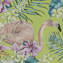 Papier peint - Matthew Williamson - Flamingo Club - Lime