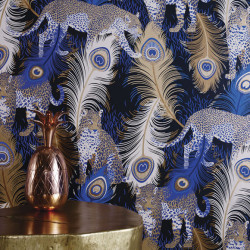 Papier peint - Matthew Williamson - Leopardo - Blue