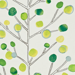 Papier peint - Scion - Berry Tree - Emerald Lime and Chalk