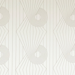 Papier peint - Erica Wakerly - Spiral - Brown / Cream