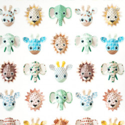 Papier peint - Studio Ditte - Wild animals - Sweet
