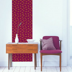Décor mural - Maison Leconte - French Kiss - Aubergine