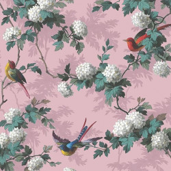Papier peint - The Vintage Collection - Bird Print - Pink