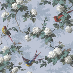 Papier peint - The Vintage Collection - Bird Print - Blue