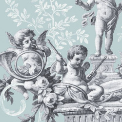 Papier peint - The Vintage Collection - Cherub Toile - Duck green