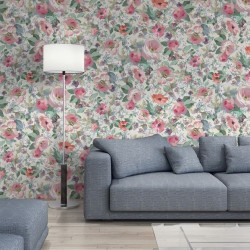 Papier peint - The Vintage Collection - Classic Rose All Over - Neutral
