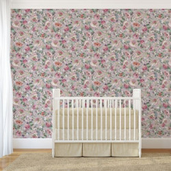 Papier peint - The Vintage Collection - Classic Rose All Over - Pink