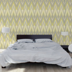 Papier peint - Osborne & Little - Astoria - Silver/Yellow