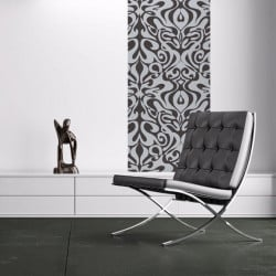 Papier peint - Cole and Son - Woodstock - Silver foil & Black