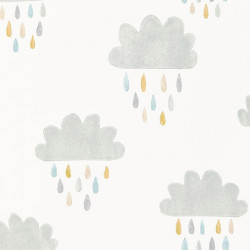 Papier peint - Scion - April Showers - Gris