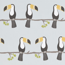 Papier peint - Scion - Terry Toucan - Gris