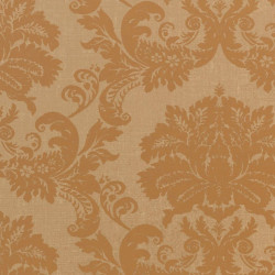 Papier peint - Thibaut - Symphony Damask - Metallic Gold on Light Brown