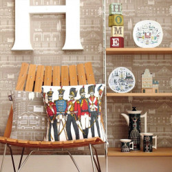 Papier peint - Mini Moderns - Do you live in a town? - Taupe