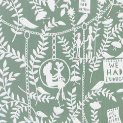Papier peint - Mini Moderns - We had Everything - Vert sauge